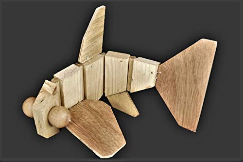 Wooden Hand Puppet Gold Fish Toy