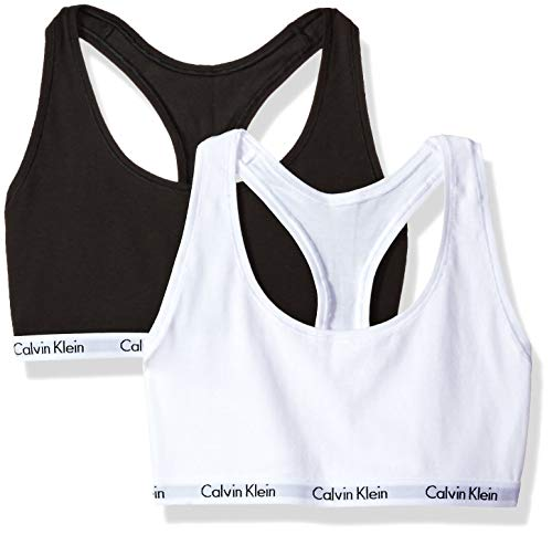 Calvin Klein Women's Carousel 2 Pack Bralette, Black/White, S ()