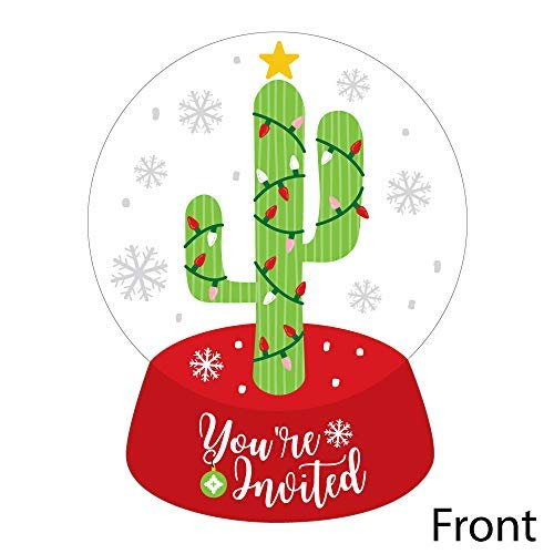 Christmas Cactus Clipart.Amazon Com Merry Cactus Shaped Fill In Invitations