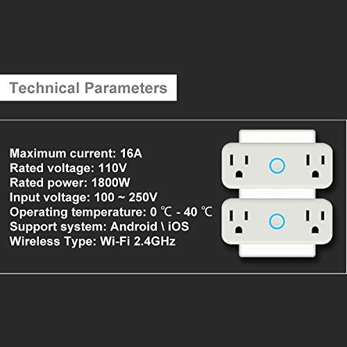 WIFI Smart Plug Mini Outlet with Energy Monitoring Works with Amazon Alexa Echo and Google Assistant … (White) by venus XU (Image #5)