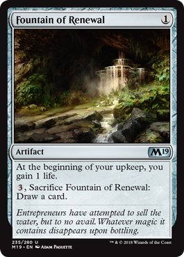 Magic: The Gathering - Fountain of Renewal - Core Set (Wizards Of The Coast Magic)