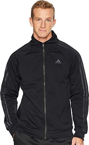 (adidas Men's Athletics Badge of Sport 3- Stripe Cotton Fleece Pullover, Black,)