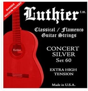 CUERDAS GUITARRA CLASICA - Luthier (LU/60) Concert Silver (Extra ...