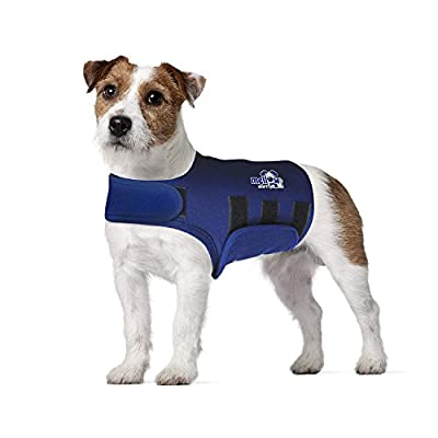 Eagloo Dog Anxiety Jacket Dog Anxiety Shirt Pet Calming Vests Dog Anxiety Calming Wrap Anti Anxiety Stress Relief Soft Calming Coat Pet Thunder Anxiety Navy Blue for Small Medium Large Breed by HOMEIN CO.,LTD