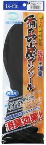 is-fit 備長炭インソール 男性用 24.0-27.0cm