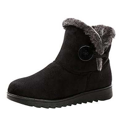 Amazon.com | VFDB Women Winter Botton Snow Ankle Boots Fur
