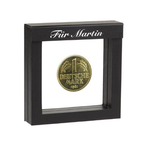 1 Dm Münze 1950 Vergoldet Mit Ihrer Persönlichen Gravur Auf Dem
