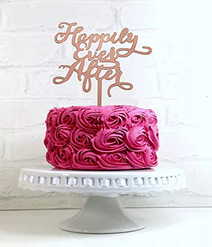 Happily Ever After Cake Topper (Happy Ever After Cake Topper for Wedding/Engagement and Anniversary,Bride and Groom Wedding Decorations, Birthday Cake)