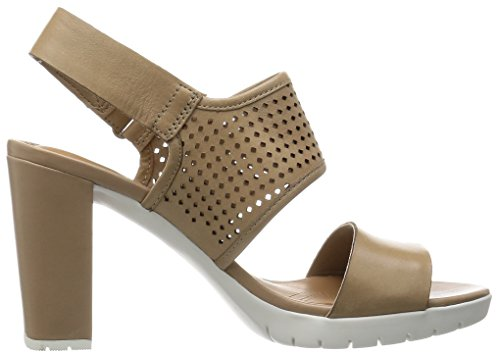 Leather Malory Pastina Clarks col Scarpe Sand Beige Tacco Donna q88d5r