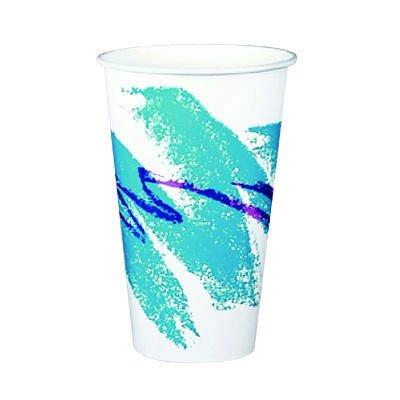 - SCCRSP16PJ - Solo Paper Cold Cups, 16 Oz., Jazz Design, Squat, 50/bag