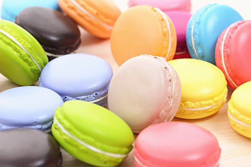 JKing Simulation Artificial Small Fake Dessert Macarons Cake Dessert Pastry Decoration Cabinets Display Photography Props Assorted colors(12pcs)