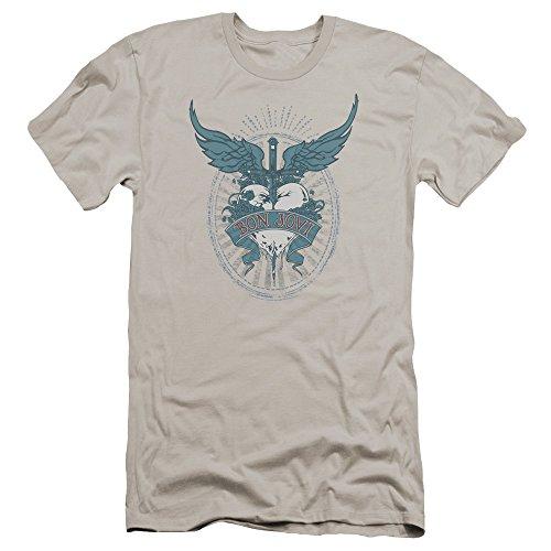 (Bon Jovi Winged Heart Unisex Adult Canvas Brand T Shirt for Men and Women)