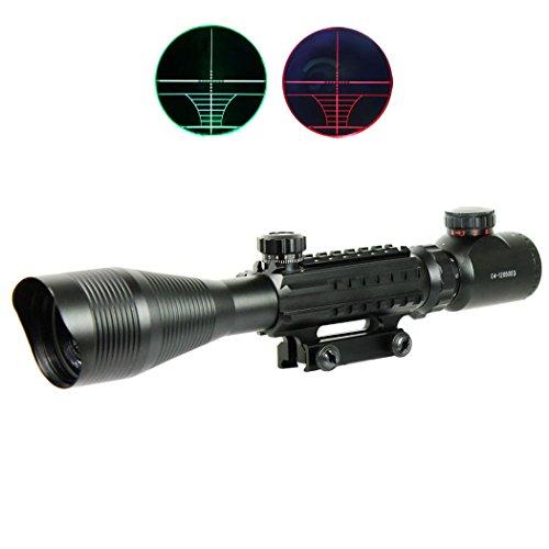 Spike 4-12X50 Tactical Optical Rifle Scope Red Green Dual illuminated w/...