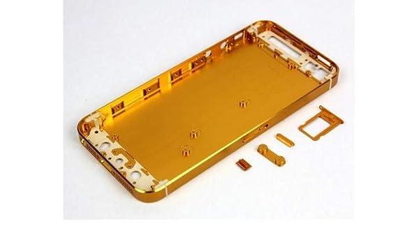 best service 5a9f7 cabf5 Amazon.com: MicroSpareparts Mobile Back Cover Golden w SmallParts ...