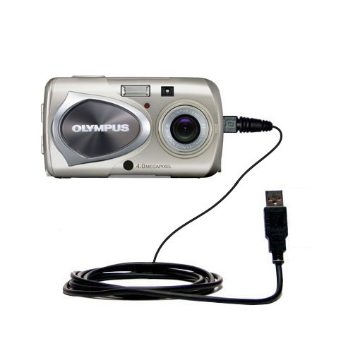 Hot Sync and Charge Straight USB cable for the Olympus Stylus 410 Digital - Charge and Data Sync with the same cable. Built with Gomadic TipExchange Technology (New Oem Pda Stylus)