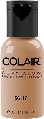 Dinair Airbrush Makeup Foundation | Natural Beige Sg117 | Soft Glow: Matte Finish | Size 1.15 oz.