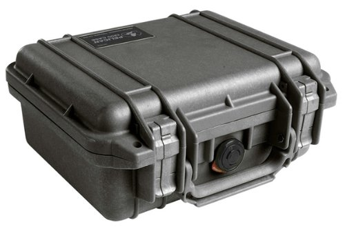 Pelican Products 1200 Protector Case 9.25x7.12x4.12 Inch Black Molded Fold-Down - Black Case 1200 Pelican