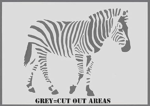 zebra schablone tier heim kinderzimmer wand malen dekoration kunst handwerk s 17x21cm - Kinderzimmer Dekoration Handwerk