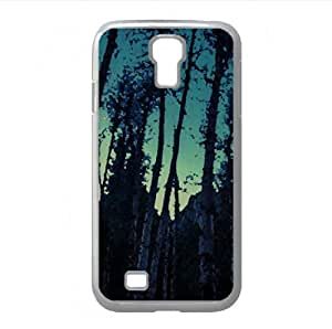 A Crescent Moon Rises Above The Merced Watercolor style Cover Samsung Galaxy S4 I9500 Case (Forests Watercolor style Cover Samsung Galaxy S4 I9500 Case)