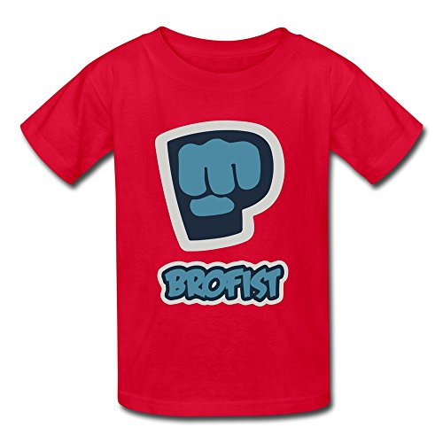 TBTJ Pewdiepie Tshirts For Youth 6-16 Years Old Red Medium