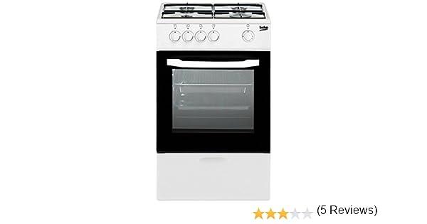 Beko - Cocina independiente de gas natural csg42010dwn - 4 fuegos: 183.48: Amazon.es: Grandes electrodomésticos