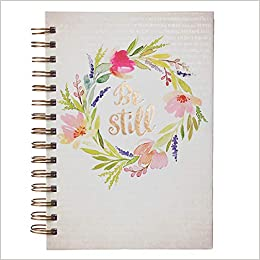 watercolor collection be still hardcover wirebound journal psalm 4610