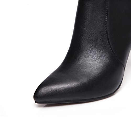 Boots Biker Annieshoe Alto Botas Elegantes Tacon Negro Mujer w7wqB4gx8