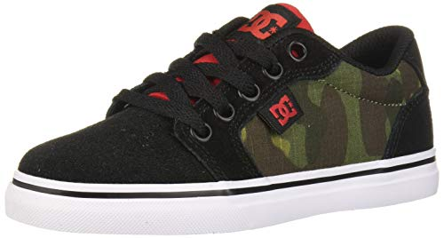 DC Boys' Anvil SE Skate Shoe, camo, 3.5 M M US Big Kid