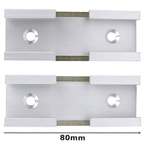 SNOWINSPRING Aluminium Legierung T-Spur Kreuz Verbindung Teile Holzbearbeitung T-Nut Gehrung Schiene Jig mit Schrauben Carpenter Holzbearbeitung Werkzeuge