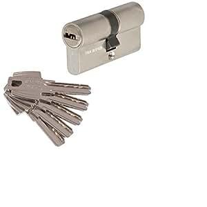 Tesa 3012430 Cilindro Seguridad T60 /30x30. Niquelado Leva Corta, 30x30 mm