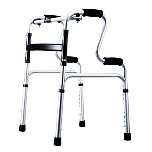 Lightweight 2.3kg Foldable Adult Seniors Rollator Assistive Walkers Climbing on the Downhill Walking Fram Aid 4 Leg Crutch|Aluminum Alloy | Adjustable Height 70-88cm| Max Load 160kg (Color : A)