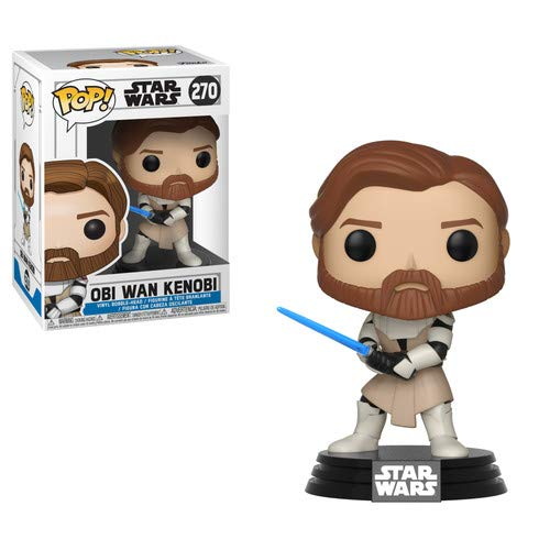 Funko Pop Star Wars: Clone Wars - OBI Wan Kenobi Collectible Figure, Multicolor