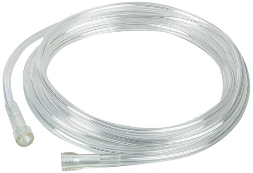 Medline HCSU4525 Oxygen Tubing with Universal Connector, 25' Size, Clear (Pack of 25)