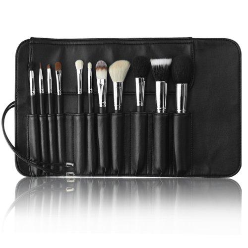 Brosses de maquillage Set - Meilleure qualité professionnelle Make Up Kit pour un nettoyeur de belle apparence - Essential Set Pro et abordable pour vos yeux lèvres Visage Fard à paupières maquillage cosmétique - avec un étui de support d'organisateur de