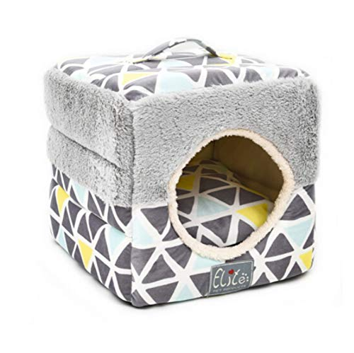 Haierr Pet Bed Kennel Dogbedpet Nest Cat Litter Closed Warmth 37.5  37.5  37.5
