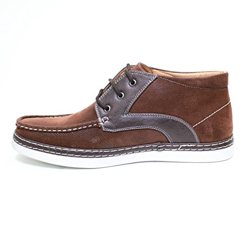 Arider 38056 Mens High-Top Casual Shoes Brown/Coffe wYzkxIw