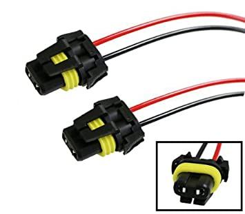 41VWHnaRR0L._SX355_ amazon com ijdmtoy (2) 900 series 9005 9006 female adapter wiring Trailer Wiring Harness Adapter at creativeand.co