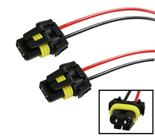 Adapter Harness (iJDMTOY (2) 900-Series 9005 9006 Female Adapter Wiring Harness Sockets Wire For Headlights Fog Lights)