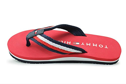 Tommy Hilfiger T3X0-00138-0058X Red Textile Youth Flip Flops Red