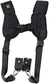 Black Quick Rapid Double Dual Shoulder Sling Belt Strap for DSLR Digital Camera