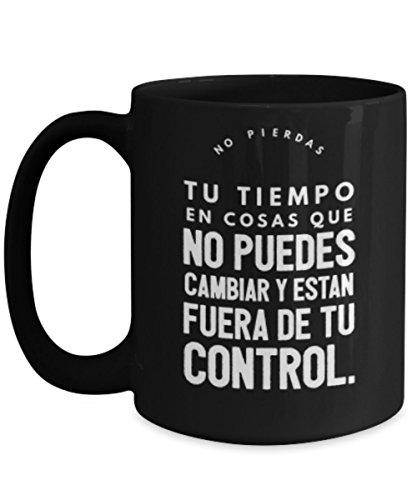 No pierdas tu tiempo | AFIRMACIONES Taza cafe, tazas para caf con AFIRMACIONES, tazas de caf personalizadas, taza de caf inspiradoras, taza grande