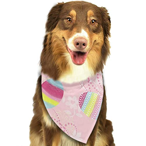 (ZZJIAK Dog Bandana Scarf Halloween Candy Spring Backgrounds Easter Colors Triangle Bibs Printing Kerchief Set Accessories Dogs Cats)