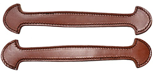 Leather Trunk Handle - Pair of Brown Leather Double & Stitched Steamer Trunk Handle By Congress Leather 101BRN