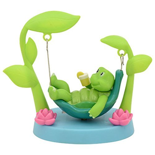 Miniature Solar Powered Swinging Turtle - 4.5 x 4 Inches -