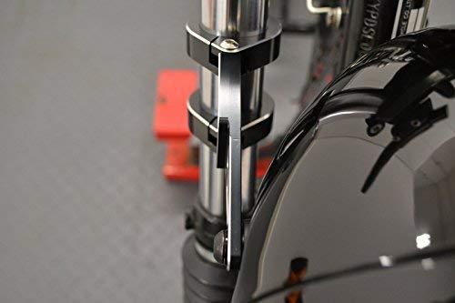Noirs Moto Supports de Phare pour 34-35mm Fourche CNC Machined