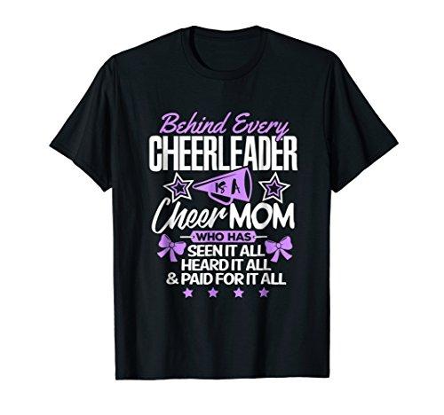 Cheerleader Shirt Behind Every Cheerleader is a Cheer - Mom Shirt Cheerleader