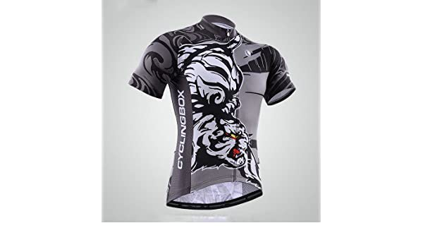 b9091af7a Amazon.com   2015 Pro Team Special Edition Men s Short Sleeve Cycling Jersey  Strong Tiger Style   Sports   Outdoors