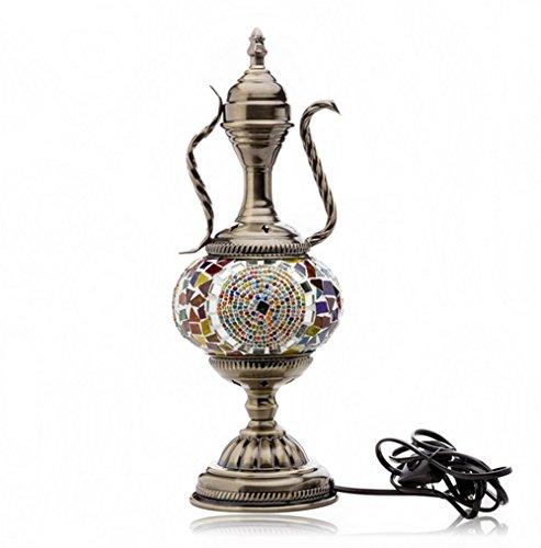 Cafe Ottoman - Unique Home Turkish Lamp Moroccan Ottoman Style Mosaic Handmade Teapot Shape Table Light Bedroom Restaurant Cafe Decoration Lamp