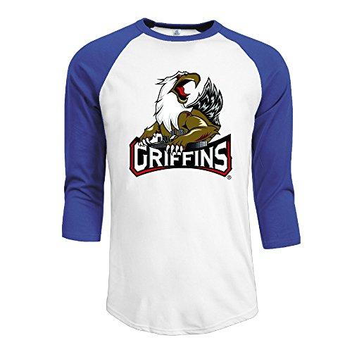 Men's AHL Grand Rapids Griffins 2015 New Logo 3/4 Sleeve Raglan - Rapids Grand Shopping