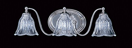 Framburg 8173 PN 3-Light Geneva Sconce, Polished Nickel